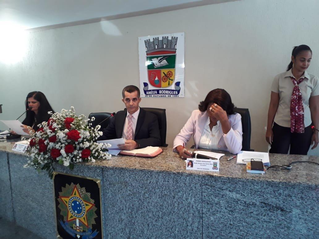 Câmara de Amélia Rodrigues, Sessão Ordinária